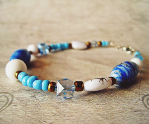beads, blue, and bohemian image