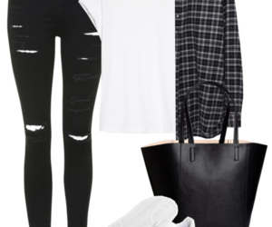 black and white and Polyvore image