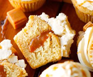 caramel, cupcake, and dessert image