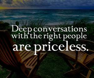 quote, priceless, and conversation image