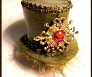 gold, hat, and jewel image