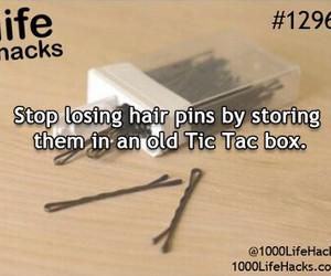 bobbypins, lifehacks, and tictacbox image