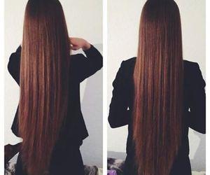 hair, long hair, and hairstyle image