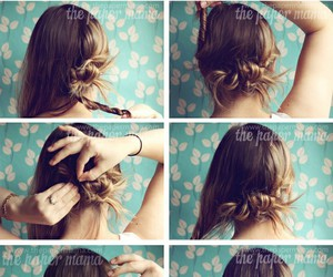 hair, how to, and updo image