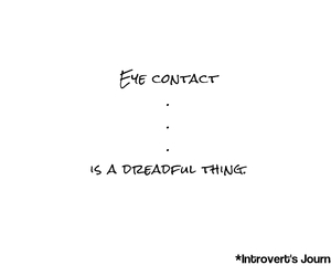 eye contact, introvert, and loner image