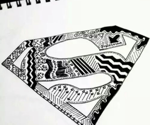 drawing, superman, and draw image