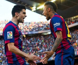 neymar, marc bartra, and Barca image