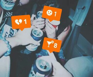 drink, party, and friends image