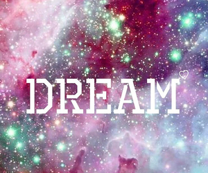 Dream, galaxy, and heart image