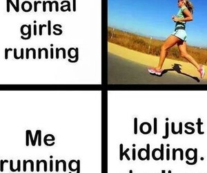 funny, normal, and run image
