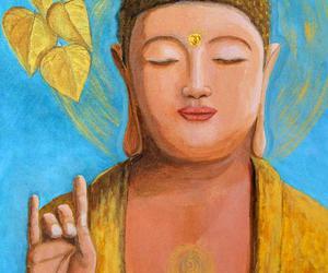 Buddha, peace, and meditation image
