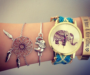 elephant, watch, and bracelet image