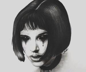 blackandwhite, dark, and Darkness image