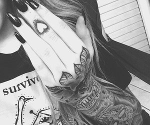 tattoo, nails, and fingers image