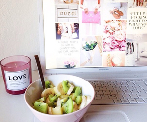 food, fruit, and candle image