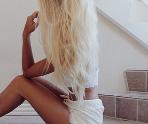 blonde, girl, and body image