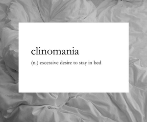 bed, sleep, and clinomania image