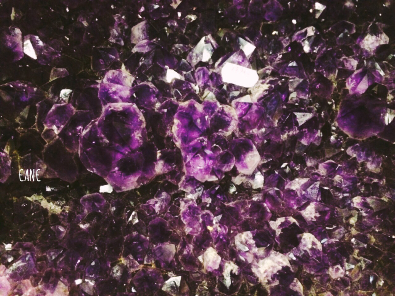 crystals, pastel, and purple image