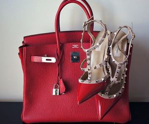 bag, red, and shoes image