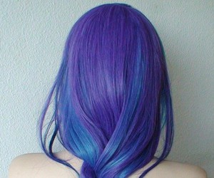 blue hair, boho, and color hair image