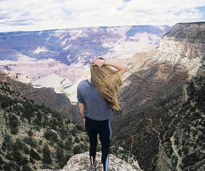 mountains, adventure, and girl image
