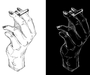 art, cigarette, and grunge image
