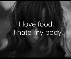body, food, and hate image