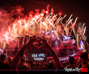 festival, fireworks, and rock in rio usa image