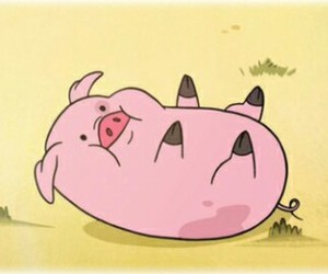 cartoon, cute, and pig image