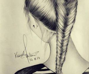 draw, hair, and beautiful image