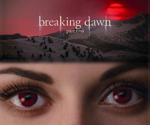 breaking dawn, breaking dawn part 2, and red eyes image