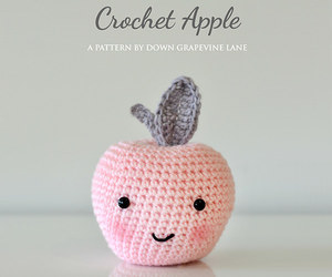 apple, crochet, and diy image