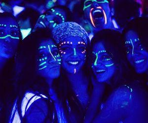 girl, neon, and fun image