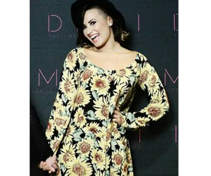 demi, yellow, and lovato image