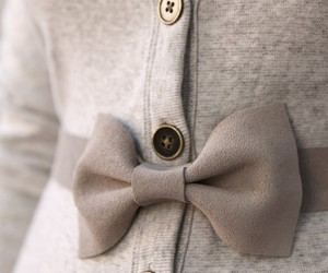 fashion, bow, and cardigan image