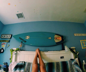 blue, summer, and surf image
