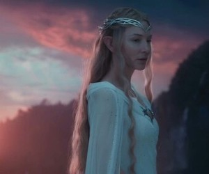 galadriel and hobbit image