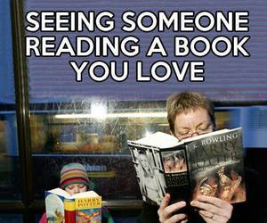 book, harry potter, and reading image
