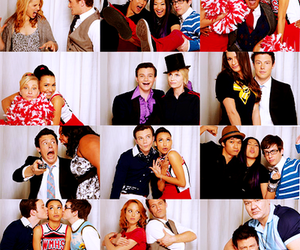glee, finn, and lea michele image