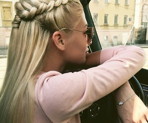 car, blonde, and fashionista image