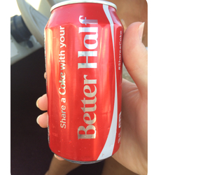 coca-cola, better half, and my love image