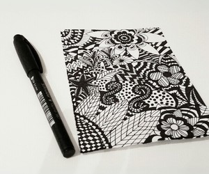 beginner, zendoodle, and black image