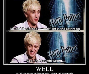 fight, funny, and harry potter image