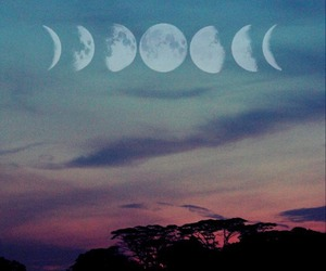 moon, sky, and hipster image