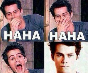 dylan o'brien, teen wolf, and haha image