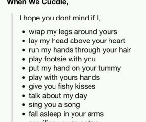 love, cuddle, and Relationship image