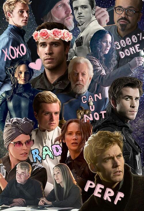 katniss, peeta, and mockingjay image