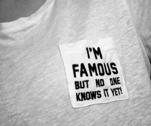 famous, white, and shirt image