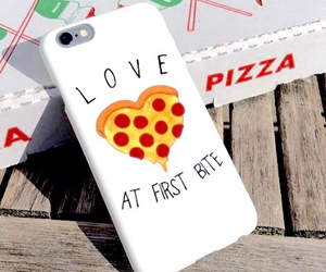 pizza, phone case, and love image