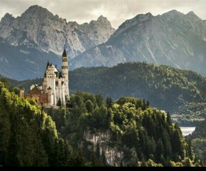 castle, mountains, and beautiful image